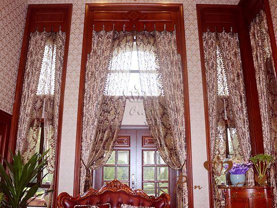 中式窗帘效果图