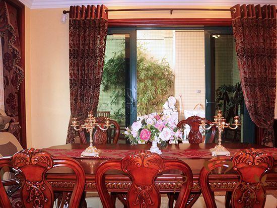 恒大华府小区客户窗帘图片|欧式风格|品上家彩-400