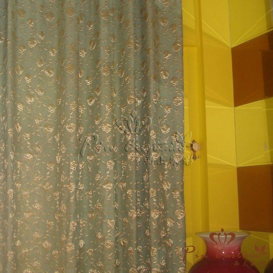 武汉汉水熙园品上窗帘安装装修实例图