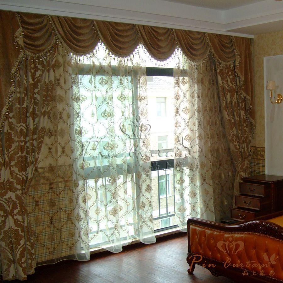 武汉品上家彩窗帘安装效果图