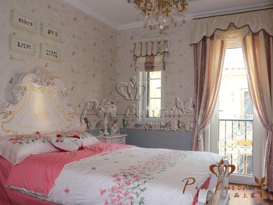 武汉纳帕溪谷顶级别墅窗帘装修案例欣赏