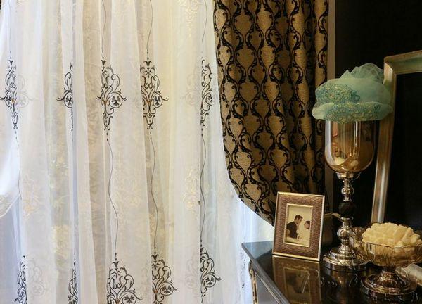 经典后现代风格高贵黑色窗帘效果图欣赏