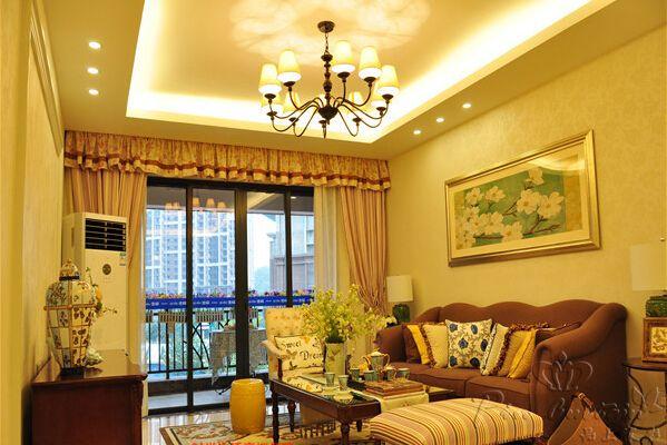 武汉美式乡村风格窗帘案例欣赏