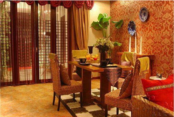 东南亚欧式风格窗帘家居装饰案例