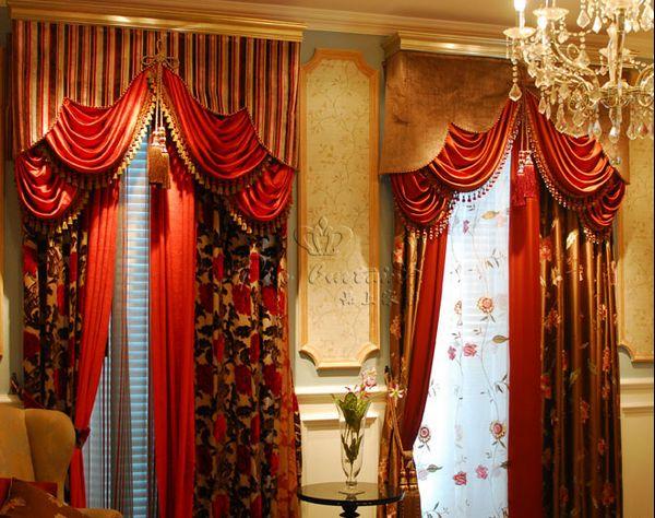 中式窗帘风格效果图(1)