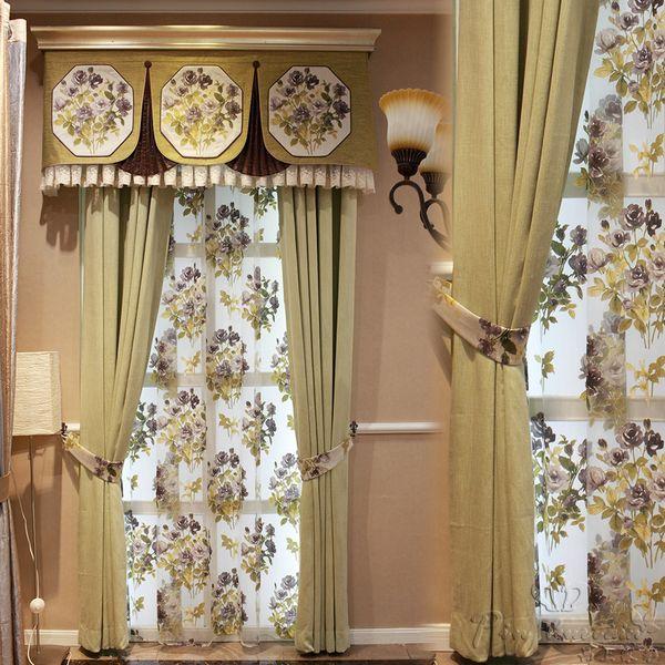 后现代风格卧室客厅落地飘窗帘定制