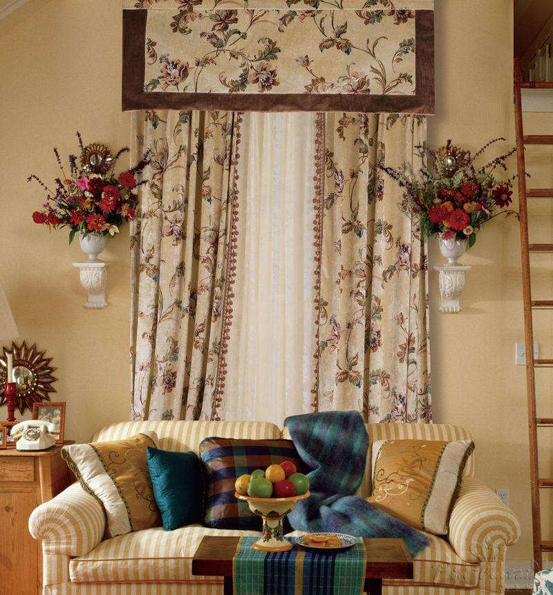 法式风格窗帘布艺效果图