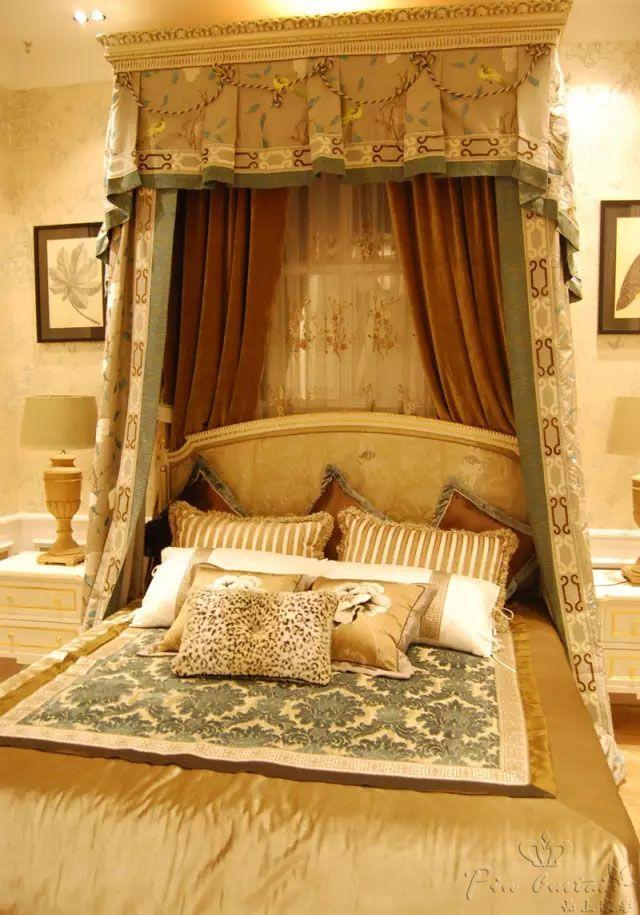 卧室床幔新古典风格时尚别墅装饰效果图