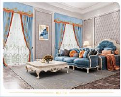 法式风格:都灵-海蓝效果图
